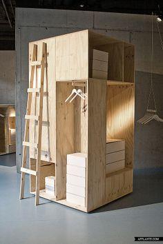 #design #storage #wood -Zalando Pop Up Shop Sigurd Larsen