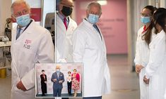 Prince Charles, 72, who is patron of Breast Cancer Now, visited a cancer research centre in London's Fulham Road to learn how Covid-19 has affected its funding.
