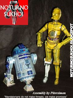 Noturno Sukhoi: Star Wars_C-3PO & R2-D2 Papercraft, free download