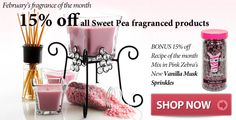 Sweet Pea scent of the month 15% off!!!