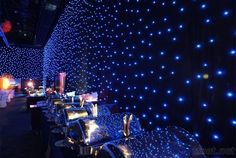 rgb color soft video led curtain, starry sky ceiling for led star light effects Dance Themes, Prom Themes, Event Themes, Event Decor, Space Party, Space Theme, Futuristic Party, Theme Galaxy, Starry Night Wedding