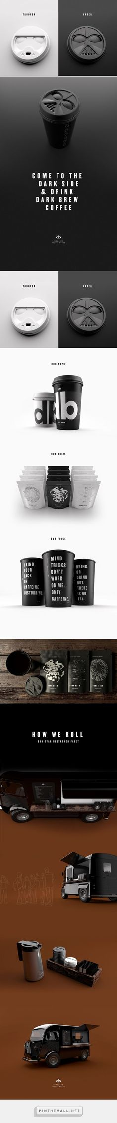 cool Dark Brew Coffee House - star wars trooper vader concept by Spencer Davis & Scott Schenone - http://www.packagingoftheworld.com/2015/12/dark-brew-coff... - a grouped images picture