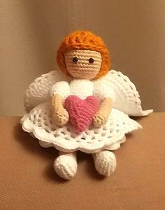 Куколка - Ангелочек связана крючком Одноклассники Crochet Angels, Crochet Dolls, Christmas Animals, Free Pattern, Teddy Bear, Album, Toys, Inspiration, Hearts