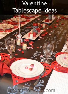 Recipe: Valentine Tablescape Ideas - Mom it Forward Be My Valentine, Valentine Ideas, 40th Wedding Anniversary, Seasonal Decor, Tablescapes, My Design, Goodies, Projects To Try, Entertaining