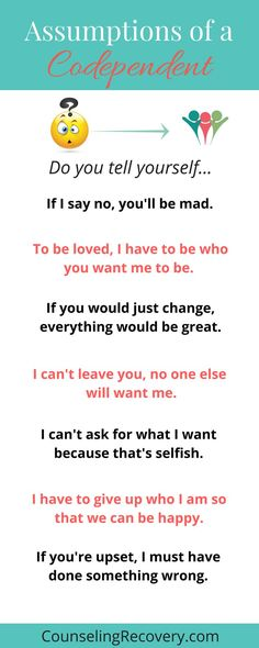 Do you wonder if you are codependent or just a giving? These assumptions are a clue - to learn more about what codependency is, click the image. codependency quote - likes this quote thank you! Codependency Quotes, Codependency Recovery, Narcissist Quotes, New Quotes, Family Quotes, Funny Quotes, Quote Meme, Time Quotes, Short Quotes