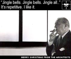 'Merry Christmas from the Architects', Christmas Cards From Famous Architects by Jodi Brown. Merry Christmas everybody.