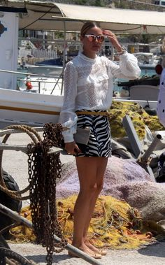 Olivia Palermo in Mini Skirt out in Mykonos - August 2016