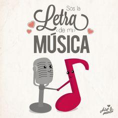 Eres la letra de mi música... :3 #love