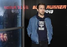 """Ryan Gosling, a cast member in the upcoming film """"Blade Runner 2049,"""" poses during a photo call backstage of the Sony Pictures Entertainment presentation at CinemaCon 2017 at Caesars Palace on Monday, March 27, 2017, in Las Vegas. (Photo by Chris Pizzello/Invision/AP)"""