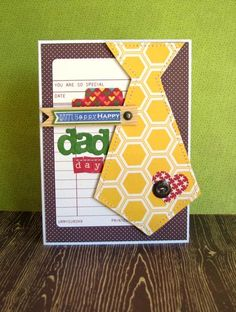 Happy Dad Day Card by Nicole Nowosad using Jillibean Soup's Paper Pads (Apple Cheddar Soup, Christmas Eve Chowder, Sweet & Sour Soup), Coordinating Cardstock Stickers, Wood Flags, Soup Labels, Epoxy Chipboard Buttons, and Baker's Twine (via the Jillibean Soup blog).