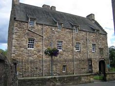 This house belonged to the Kerrs of nearby Ferniehirst Castle (where it is likely Mary Queen of Scots may have been cared for instead). The house has an interesting feature, a left-handed staircase built for the Kerrs (who were left-handed) in the 16th century, to enable them to wield their sword more easily.