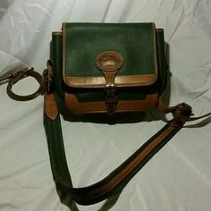 Dooney & Bourke Handbags - Dooney&Bourke Green and Brown Lined Cross Body