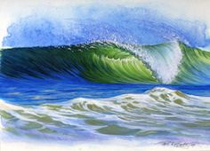 Quicksilver blog has some tutorials on drawing waves... Artist Phil Roberts demonstrates...