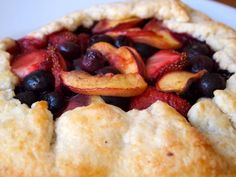 Strawberry, Blueberry & Peach Galette