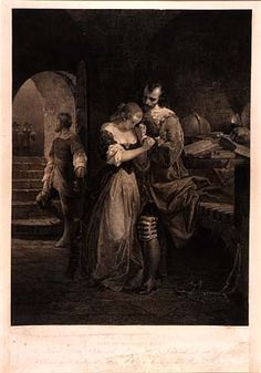 Sir Walter Raleigh Parting with His Wife by Emanuel Leutze