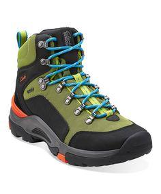 8ae5a2ba3e4 Clarks Black   Lime Outride Mesh GTX Leather Hiking Shoe