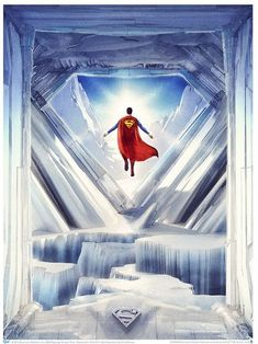 The Man of Steel has a seriously cool place to chill on the Superman: Fortress of Solitude Art Print. Arte Do Superman, Batman E Superman, Superman Artwork, Superman Family, Superman Man Of Steel, Superman Facts, Superman Wallpaper, Comic Books Art, Comic Art