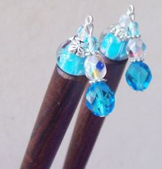 How to make Aqua Hair Sticks/Shawl Pins - DIY Craft Project with instructions from Craftbits.com