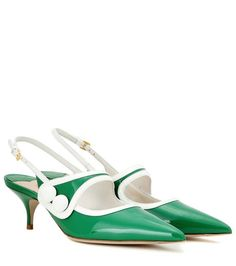 7bc3f064d395 Miu Miu Patent leather slingback kitten-heel pumps Patent Leather Pumps