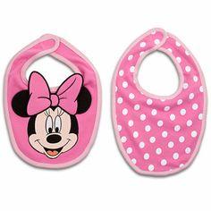 Disney Minnie Mouse Bib Set for Baby | Disney Store on Wanelo
