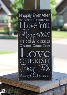 Happily Ever After Family Quote Saying Distressed by thestickerhut, $45.00