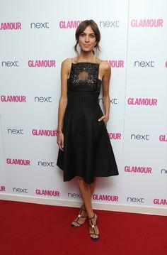 Alexa Chung Dior vestido negro