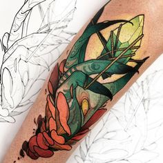 """ink-pedia: """" Kenni Poke """" Wow, this person's sense of color is off the chain. Mommy Tattoos, Body Art Tattoos, Hand Tattoos, Traditional Heart Tattoos, Neo Traditional Tattoo, Incredible Tattoos, Beautiful Tattoos, Crystal Tattoo, Tattoo Spirit"""