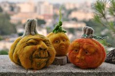 Group of Solid wool needle felted pumpkins. Description from uk.pinterest.com. I searched for this on bing.com/images