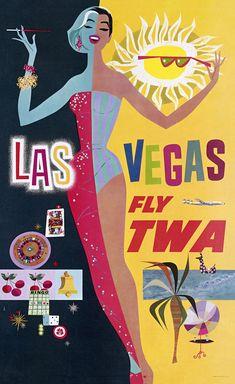 飛行機が憧れだった時代のビンテージポスター
