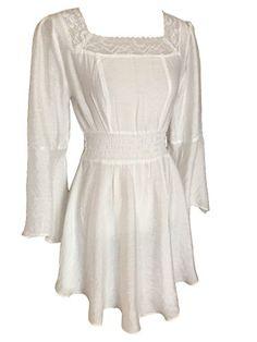 Ivory Peasant Gypsy Romantic Asymmetric Short Summer Dress (10) Steampunk Goths http://www.amazon.co.uk/dp/B00X7P2PVC/ref=cm_sw_r_pi_dp_NhzAvb021SXBP