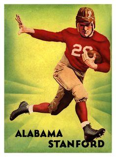 cd85a0b2d 1935 Alabama Crimson Tide vs Stanford Cardinal 36x48 Canvas Historic  Football Poster Alabama Vs