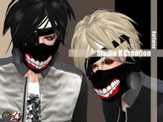 Studio K Creation: Tokyo Ghoul - face mask • Sims 4 Downloads