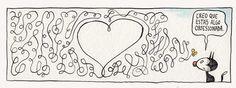 Liniers, seudónimo de Ricardo Siri (Buenos Aires, 15 de noviembre de 1973), es un historietista argentino conocido por ser el autor de Macanudo. #Humor Good Notes, Humor Grafico, Heart Quotes, Calvin And Hobbes, Illustrations Posters, Poster Prints, Nerd, Geek Stuff, Love