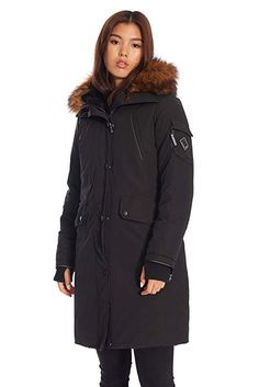 9d2678c7d16 Amazon.com  Alpine North Womens Vegan Down Long Parka Winter Jacket   Clothing