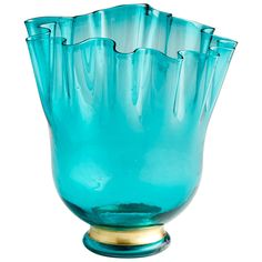 """Material is glass and iron. Finish is turquoise blue. 12.25""""W x 12.5""""H x 12.25""""D Weight: 12.5 pounds In stock. Ready to ship in 4 - 7 days.$ReadMore:Finish/frame: Turquoise Blue"""