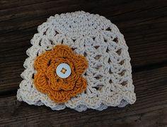Lightweight crochet baby beanie  white baby hat  by macherieshop, $12.00