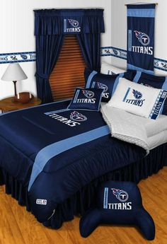 Tennessee Titans Sidelines Comforter by Sports Coverage - NFL - Polyester