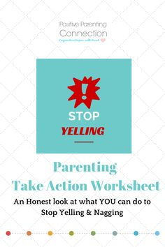 Two Parenting Tools to Help Stop the Yelling found on Positive Parenting Connection.net