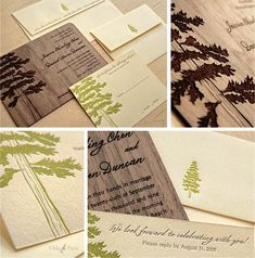 This reminds me of a DIY project I saw in a book for DIY Brides. They make a piece of wood laminate into an invitation. So cool...