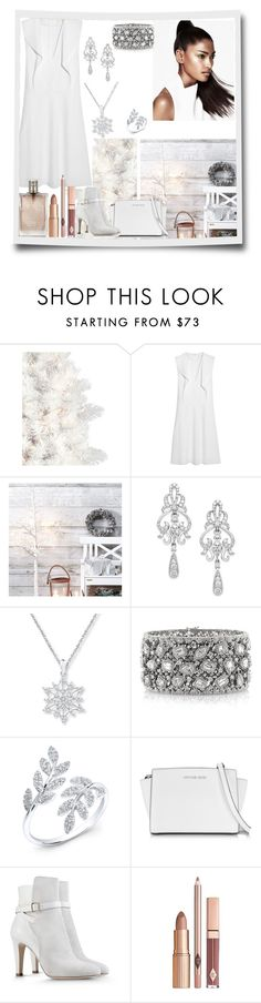 """""""Untitled #2546"""" by nefertiti1373 ❤ liked on Polyvore featuring Chloé, Wrapped In Love, Mark Broumand, Michael Kors, Alberta Ferretti and Burberry"""