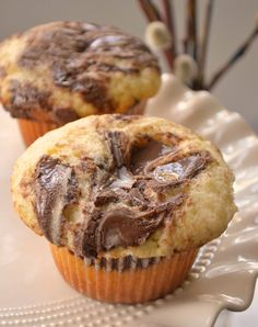 Nutella cupcakes, going to give this recipe to my wife right away.