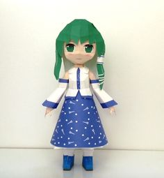 Touhou Project - Sanae Kochiya Ver.2 Free Doll Papercraft Download - http://www.papercraftsquare.com/touhou-project-sanae-kochiya-ver-2-free-doll-papercraft-download.html#Chibi, #Doll, #SanaeKochiya, #TouhouProject