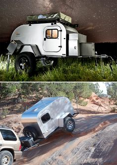 Modern teardrop camper @Rowan Patterson - I'm still trying to convince hubby we NEED one of these for Goliath!