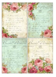 diy basswood with decoupage for garden markers - Bing Vintage Tags, Vintage Labels, Vintage Ephemera, Vintage Postcards, Vintage Prints, Decoupage Vintage, Vintage Paper, Scrapbook Paper, Scrapbooking