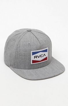 10c6e1d4b9 RVCA creates a basic look for this stylish men s snapback hat. The National  Snapback Hat features a red