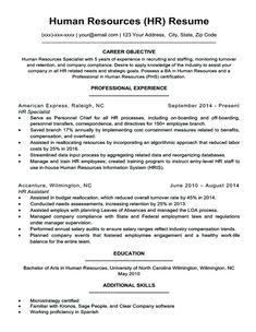 Human Resource Manager Resume Example Luxury Human Resources Resume Sample & Writing Tips Resume Objective Statement, Resume Objective Examples, Good Resume Examples, Resume Writing Tips, Resume Skills, Resume Tips, Cv Tips, Resume Ideas, Human Resources Quotes