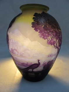Emile Galle LAKE COMO glass vase