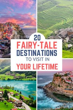 Here's a list of the most beautiful travel destinations around the world. Fairy-tale getaways to visit in your lifetime. Here's a list of the most beautiful travel destinations around the world. Fairy-tale getaways to visit in your lifetime. Bucket List Destinations, Vacation Destinations, Vacations, Top Places To Travel, Bucket List Life, Voyage Europe, Destination Voyage, Future Travel, Beautiful Places To Visit