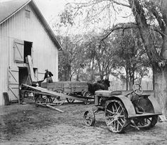 John Deere/ still have the tractor and the saw mill out back/