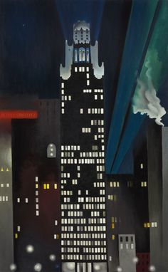 Radiator Building–Night, New York, 1925. Georgia O'Keeffe. Oil on canvas